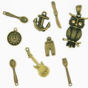 Antique Brass Alloy Charms